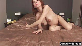 Redhead pregnant sex with cumshot