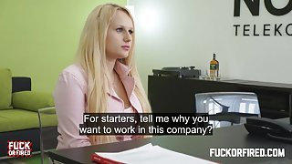 Assfucked by her future boss