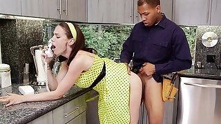 Cougar Mckenzie Lee Fucks And Blows Black Plumbers