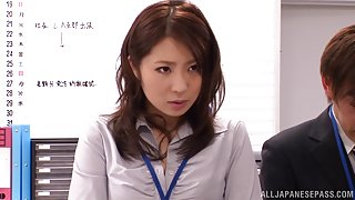 Tempting Asuka is a hot office gal in nasty group action