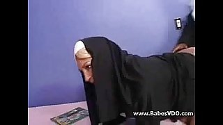 Nun anal creampie by BBC
